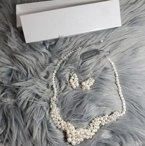 Fresh Water Pearl Necklace and Earings set